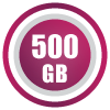 500GB/month