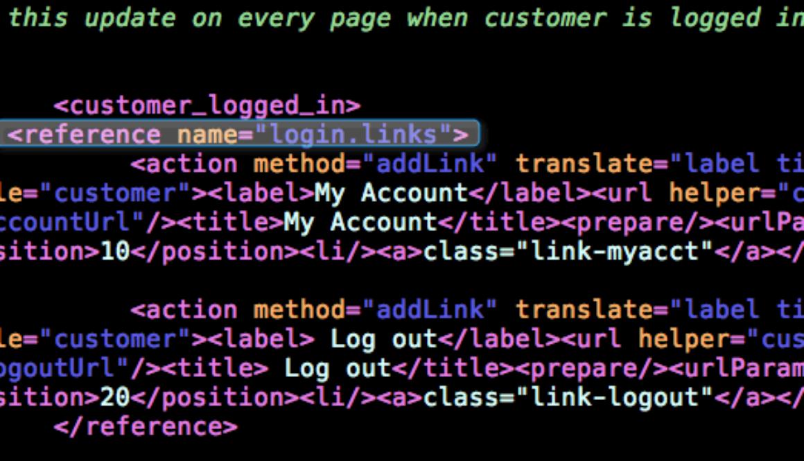 Editing Magento Top Links