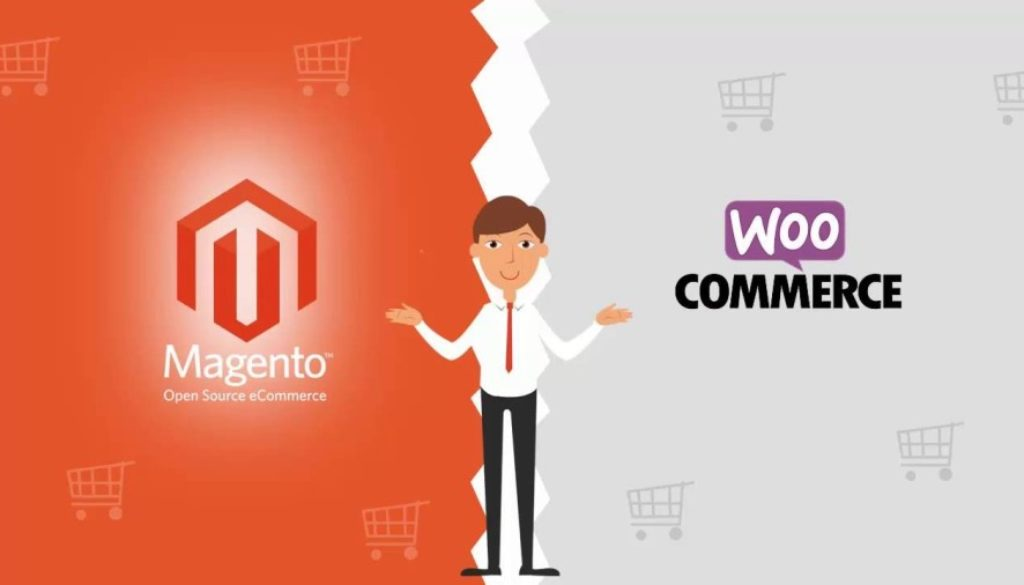 E-commerce is bound to WooCommerce and Magento